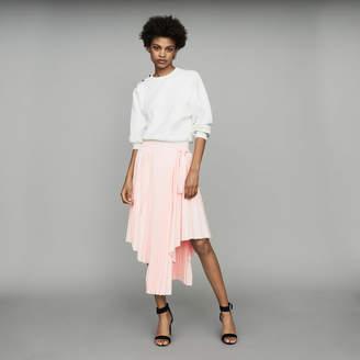 Maje Asymmetric pleated skirt