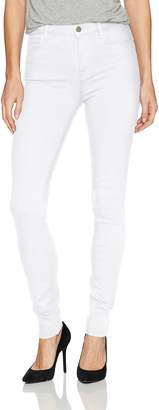 J Brand Jeans Women's Maria High Rise Skinny Solid White