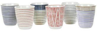 Pols Potten Block Stripe Cups - Set of 6
