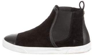 Jimmy Choo Shearling Lined High-Top Sneakers