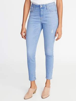 Old Navy High-Rise Secret-Slim Pockets Distressed Rockstar Super Skinny Jeans for Women