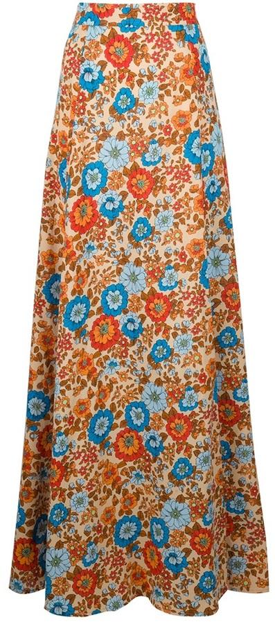 Emanuel Ungaro Vintage Floral maxi skirt