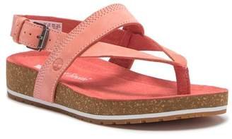 Timberland Malibu Waves Leather Platform Thong Sandal