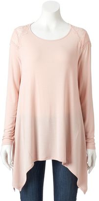 Women's Apt. 9® Lace Handkerchief Tunic $36 thestylecure.com