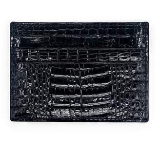 Fiona's Collection Black Crocodile Leather Cardholder