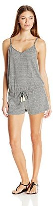 Lucky Brand Women's Fly Away Cover-Up Romper with Lace Inset and Draw Cord $49.81 thestylecure.com