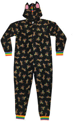 Asstd National Brand Mens Fleece Long Sleeve One Piece Pajama