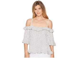 Bobeau B Collection by Adrian Beaded Off Shoulder Tank Top