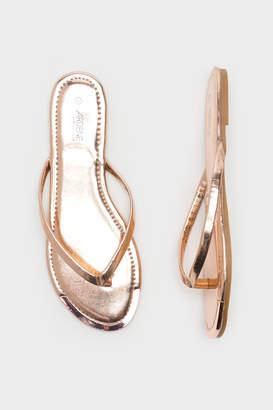 Ardene Metal Tip Flip-Flops