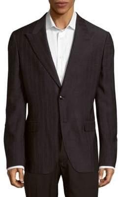 Versace Silk-Blend Textured Sport Coat