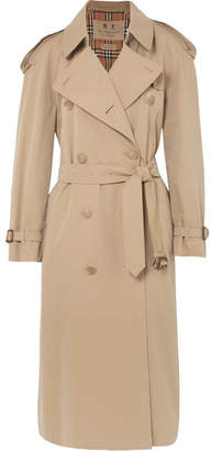 Burberry The Westminster Long Cotton-gabardine Trench Coat - Beige