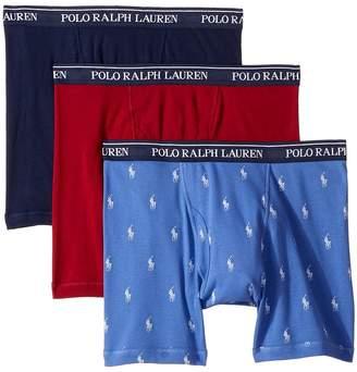 Polo Ralph Lauren Classic Fit w/ Wicking 3-Pack Boxer Briefs Men's Underwear