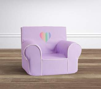 Pottery Barn Kids Lavender Rainbow Heart Anywhere Chair® Slipcover Only