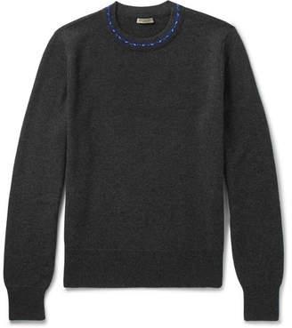 Bottega Veneta Contrast-Trimmed Wool and Cashmere-Blend Sweater