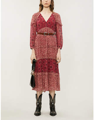 BA&SH Gypsie chiffon midi dress