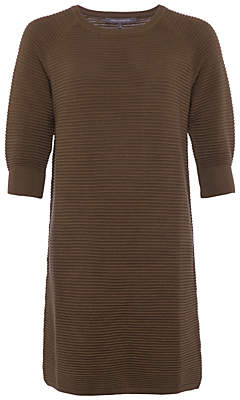 French Connection Mozart Ripple Jumper Dress, Olive Night