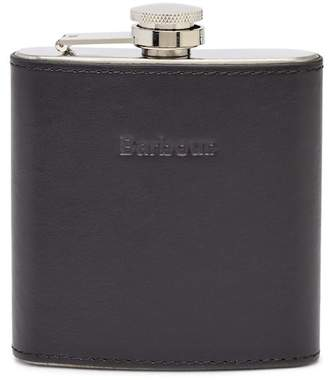 Barbour Embossed Leather Hipflask