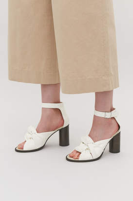Cos KNOT-FRONT LEATHER SANDALS