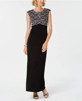 Connected Embroidered Lace Gown