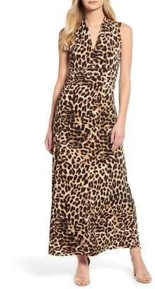 18f93a70c4ec Vince Camuto Exotic Animal Print Halter Neck Maxi Dress
