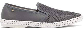 Rivieras Classic Slip On Canvas Loafers - Mens - Grey