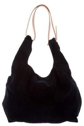 Maison Margiela Leather Trim Velvet Hobo
