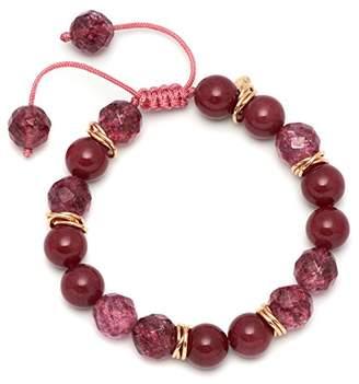Lola Rose Thomasina Red Plum Quartzite Burgundy Rock Crystal Bracelet