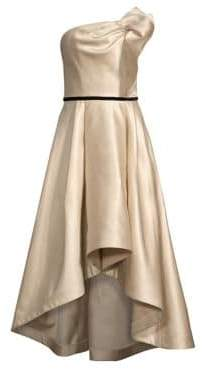 Shoshanna Amberose Strapless High-Low Gown