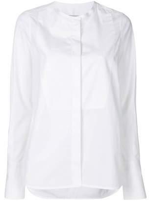 Alberto Biani collarless long sleeve shirt
