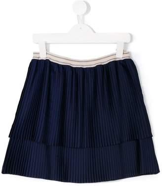 Bellerose Kids pleated layered skirt
