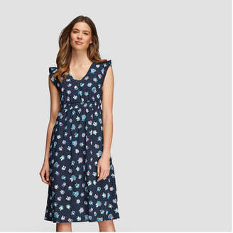 Joe Fresh Women's Print Ruffle Sleeve Dress