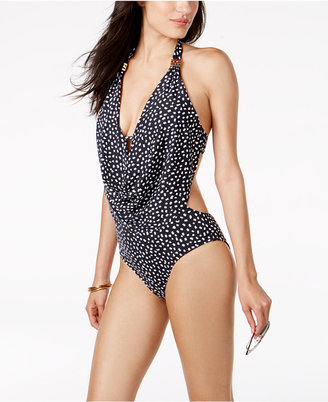 Bar Iii Halter Cowl-Neck One-Piece Swimsuit, Created for Macy's Women's Swimsuit $88 thestylecure.com