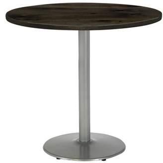 """LOFT KFI seating KFI Urban 30"""" Round Top Table, Barnwood, Round Silver Base"""