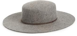 Frye Santa Fe Belted Wool Felt Boater Hat dd763f1cb67c
