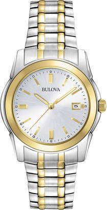 Bulova Mens Two-Tone Stainless Steel Chronograph Watch 98H37