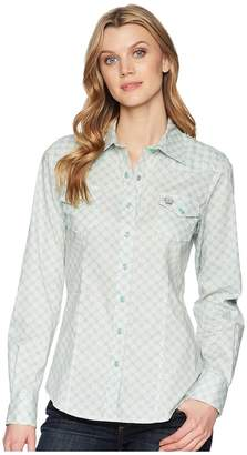 Cinch Cotton Plain Weave Print Women's Clothing
