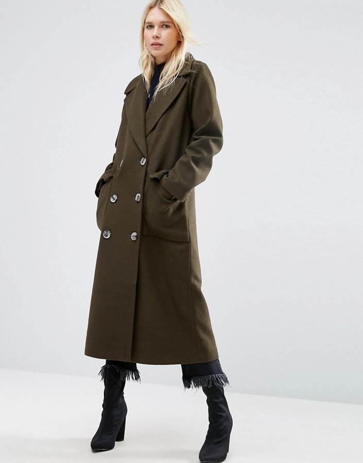 Asos ASOS Coat with Oversized Styling