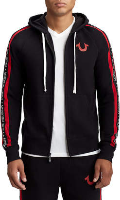 True Religion MENS PANEL RAGLAN ZIP UP HOODIE
