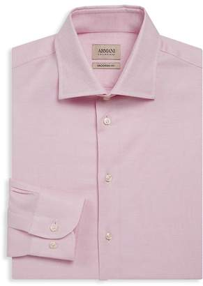 Giorgio Armani Men's Modern-Fit Textured Dress Shirt