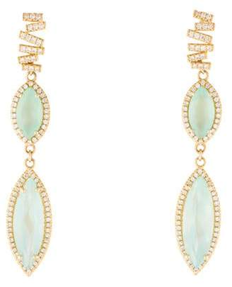 Suzanne Kalan 18K Chalcedony & Diamond Drop Earrings