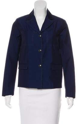 Balmain Denim Notch-Lapel Blazer