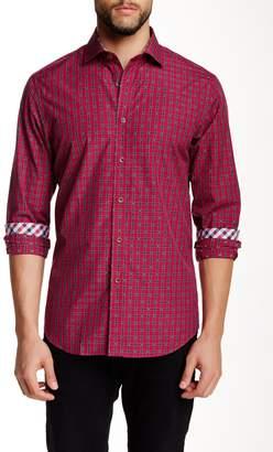 James Tattersall Barnet Jacquard Plaid Modern Fit Shirt