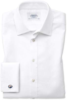 Charles Tyrwhitt Classic Fit Egyptian Cotton Royal Oxford White Dress Shirt Single Cuff Size 16.5/34