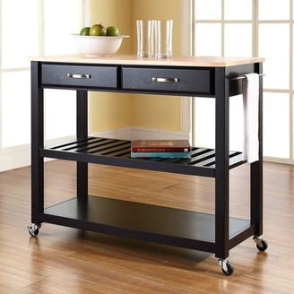 Crosley Furniture Wood Top Kitchen Cart