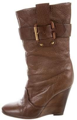 Chloé Wedge Mid-Calf Boots