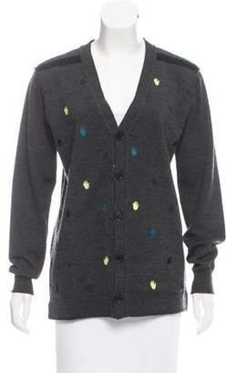 Sonia Rykiel Button-Up Wool Cardigan