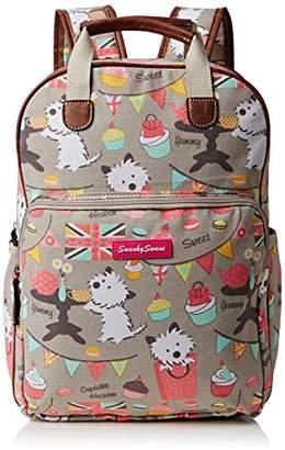 Biba SWANKYSWANS Womens Dog Cupcake Essex Backpack Handbag Grey