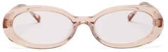 Le Specs Outskirt Oval Frame Acetate Glasses - Womens - Light Pink