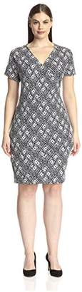 Society New York Plus Women's Wrap Dress