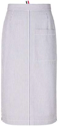 Thom Browne striped straight skirt